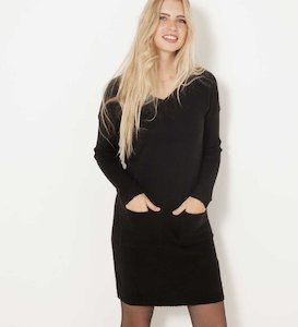 Robe pull maille mousseuse