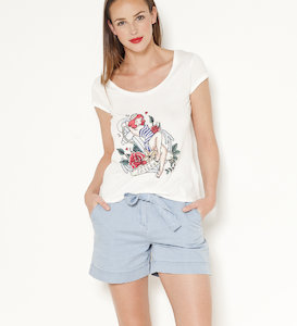 T-shirt femme tatouage pin up