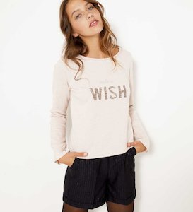 Sweat femme manches cropped