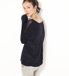 Pull dos ouvert femme
