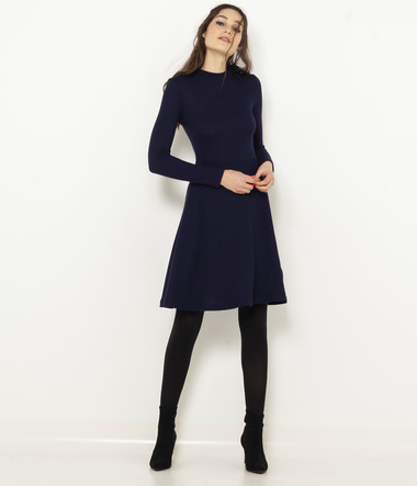 Robe maille col noué