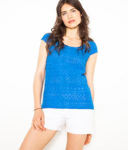 T-shirt femme broderie anglaise