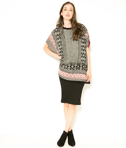 Pull femme coupe poncho