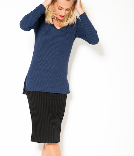 Jupe crayon femme maille