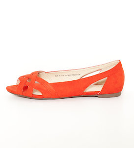 Ballerines femme bout ouvert