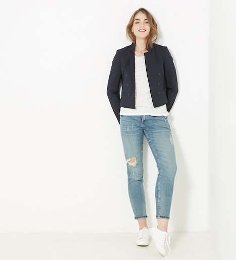 veste blazer courte femme black iris femmes cama eu. Black Bedroom Furniture Sets. Home Design Ideas