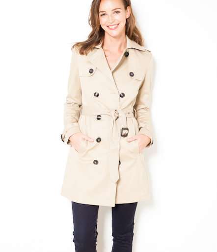 Trench femme boutonné