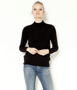 Pull femme col cheminé