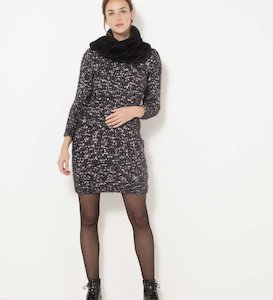 Robe pull maille tricot