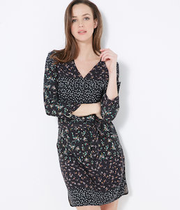 Robe fluide manches longues