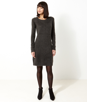 Robe femme maille shaggy