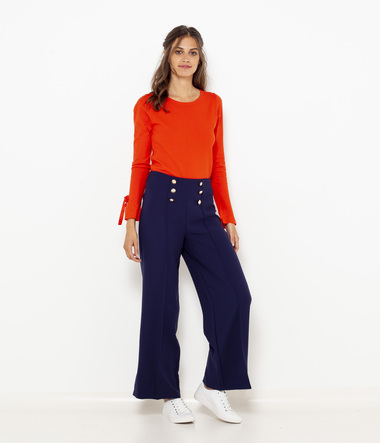 Pull nœuds manches femme