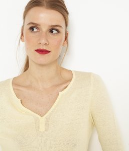 Pull lin coton femme